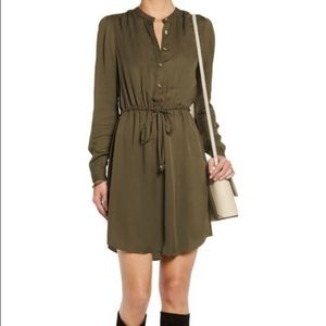Michael Kors army green 100% silk dress